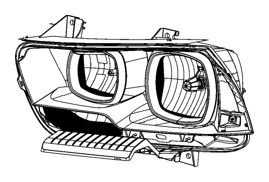 Dodge Charger Headlamp. Left. [low beam hid headlamps