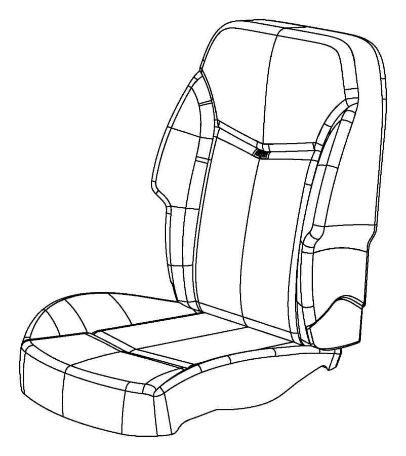 Dodge Avenger Foam. Front seat back, seat back. Right
