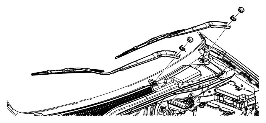 RAM C/V TRADESMAN Arm. Front wiper. Right. [var
