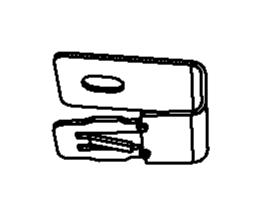 Dodge Journey Bracket. Air duct, wiring harness