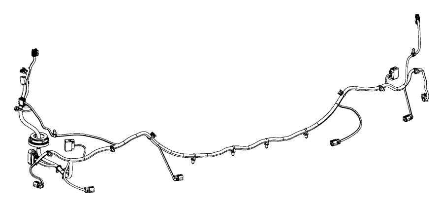 Jeep Cherokee Wiring. Rear fascia. [front fascias parts