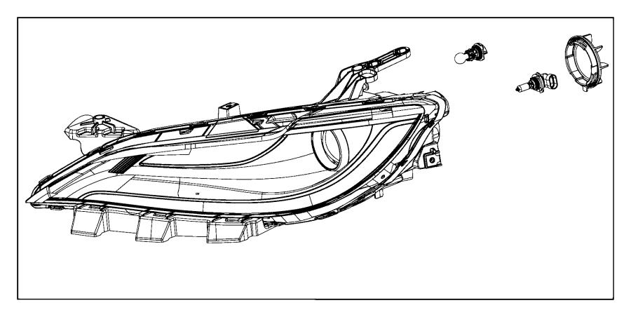 2015 Chrysler 200 Headlamp. Left. Mmh, hlampchrome