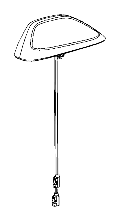 Jeep Cherokee Antenna. Used for: base cable and bracket