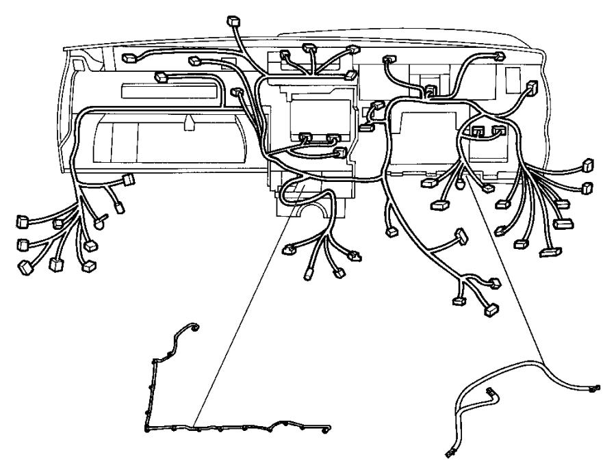 Jeep Grand Cherokee Wiring. Instrument panel. Export