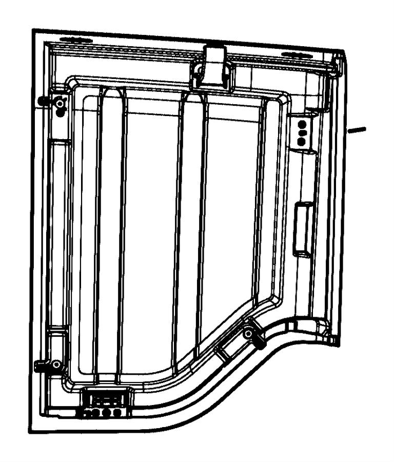 Jeep Wrangler Panel. Targa top. Right. [black 3-piece hard