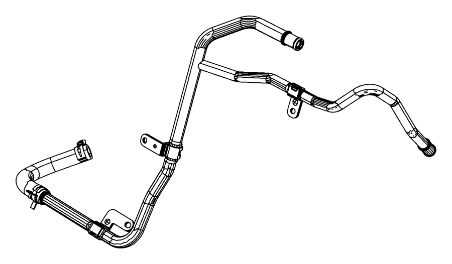 2013 Jeep Grand Cherokee Hose and tube. Heater return