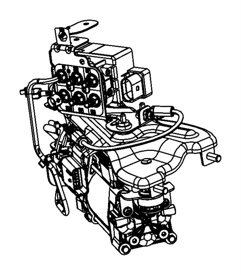 2016 Jeep Grand Cherokee Valve block. Compressor