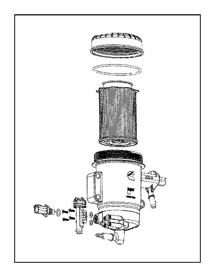 2016 RAM 2500 Filter kit. Fuel/water separator. Extreme