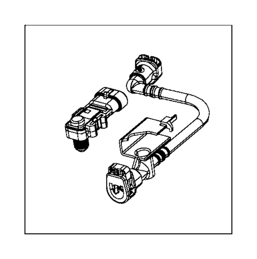 2016 Jeep Patriot LATITUDE 2.0L I4 M/T Tube. Fuel vapor