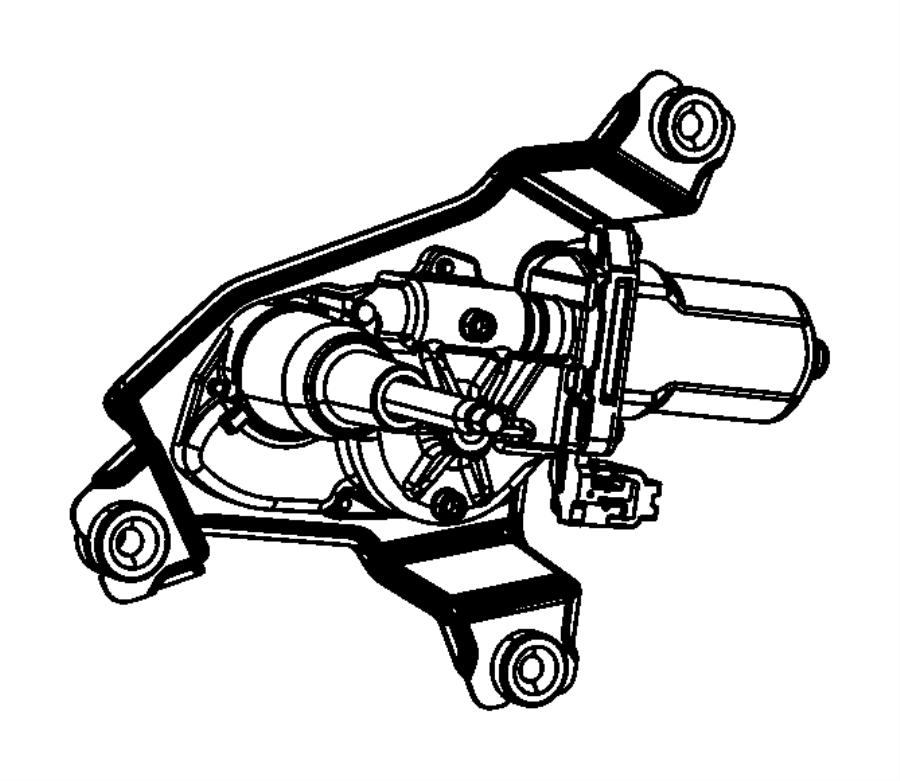 Dodge Durango Motor. Liftgate wiper. [rear window wiper