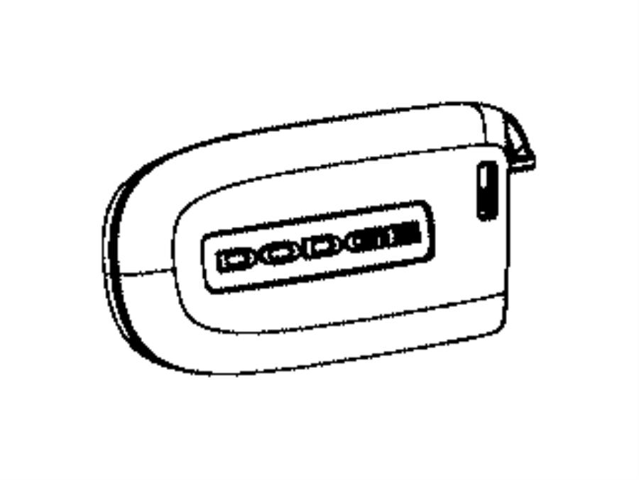 2017 Dodge Transmitter. Integrated key fob