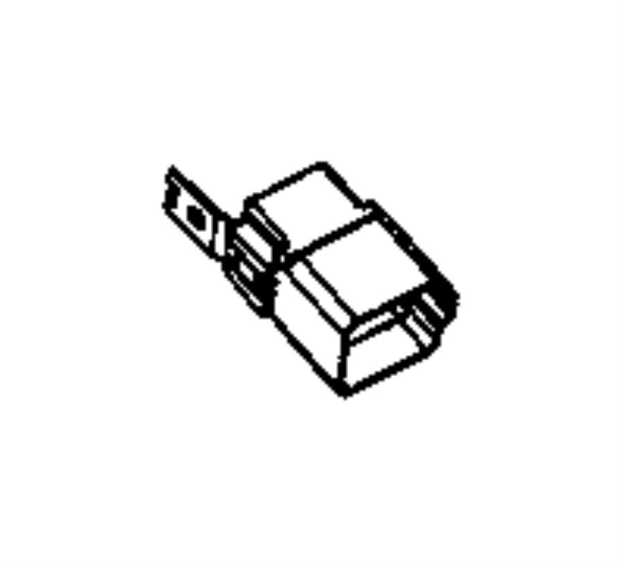 RAM PROMASTER Relay. Radiator fan. [air conditioning