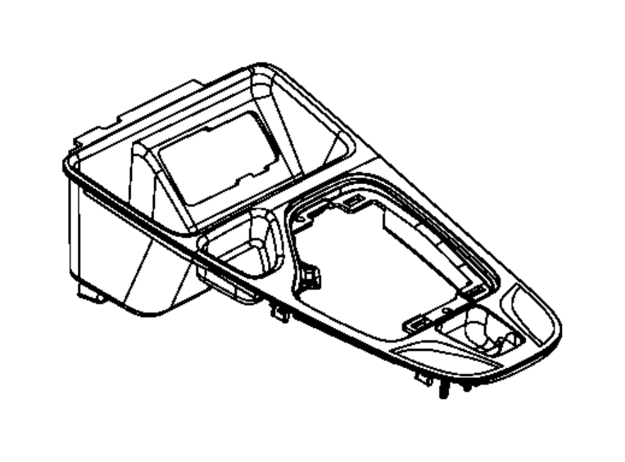 2016 Jeep Cherokee Bezel. Gear shift indicator. Trim: (*o0