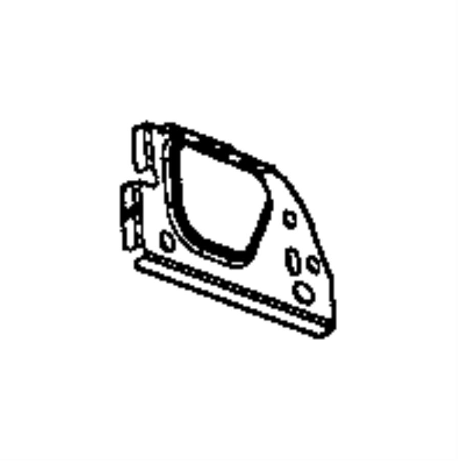 RAM 2500 Panel. Bulkhead support. Right, right rear