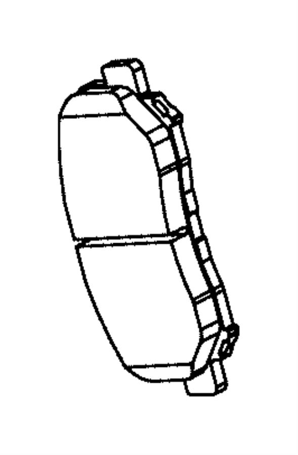 2015 Chrysler Pad kit. Front disc brake. Value line