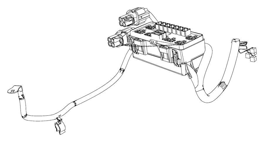 Dodge Ram 3500 Kit. Auxiliary power distribution center