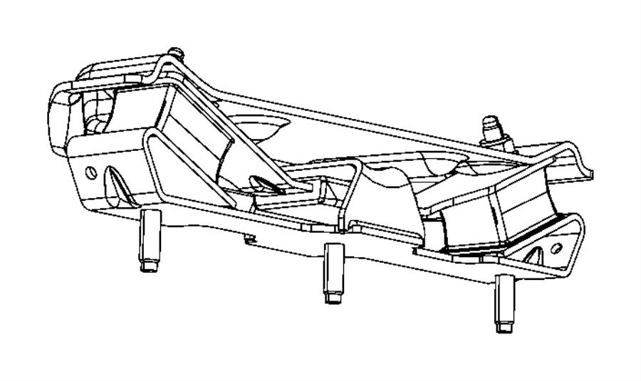 2006 Dodge Isolator, used for: bracket and insulator
