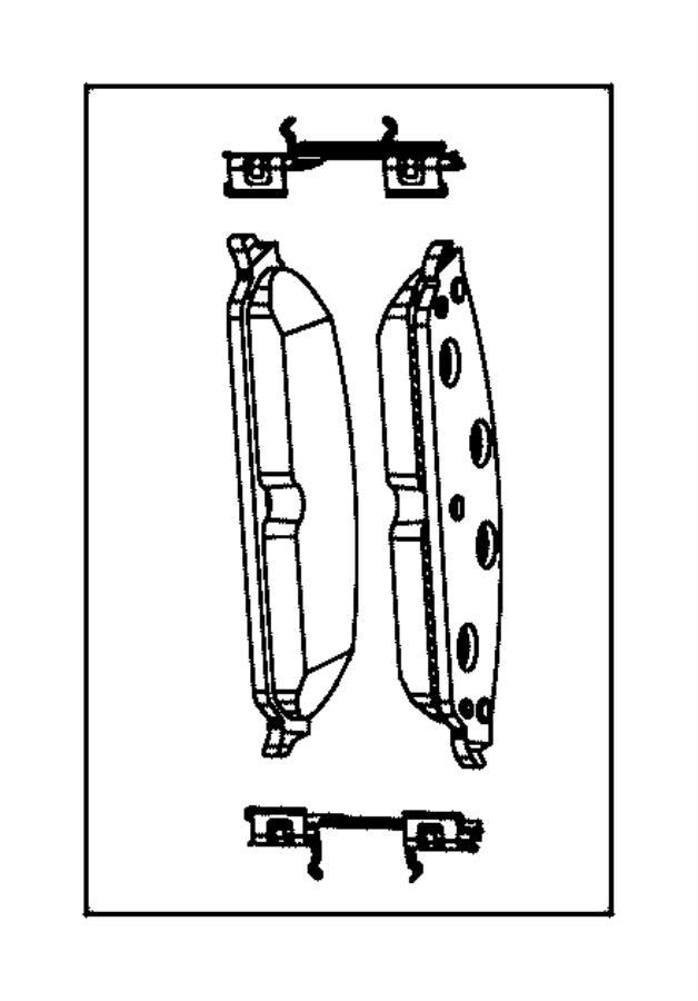 2012 Chrysler Pad kit. Right or left. Front disc brake