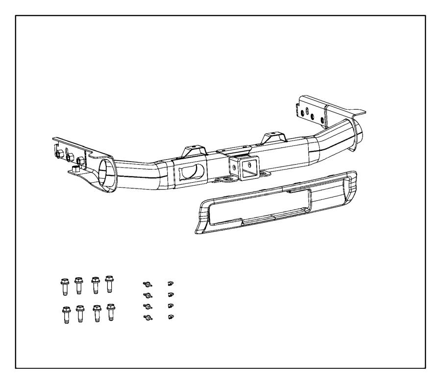 2014 Dodge Durango Bezel. Hitch. Upperlower, fasciarear