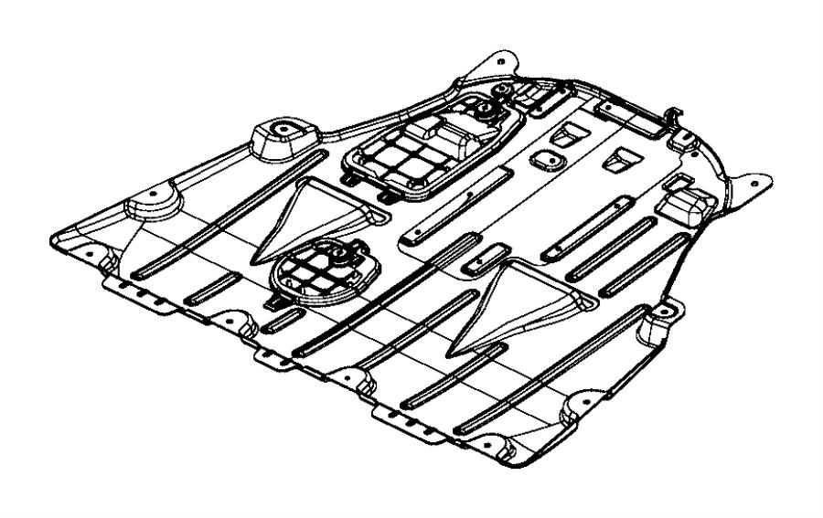 Chrysler 200 Belly pan. Front. [3.6l v6 24v vvt engine