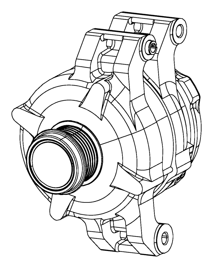 Jeep Grand Cherokee Generator. Engine. [180 amp alternator