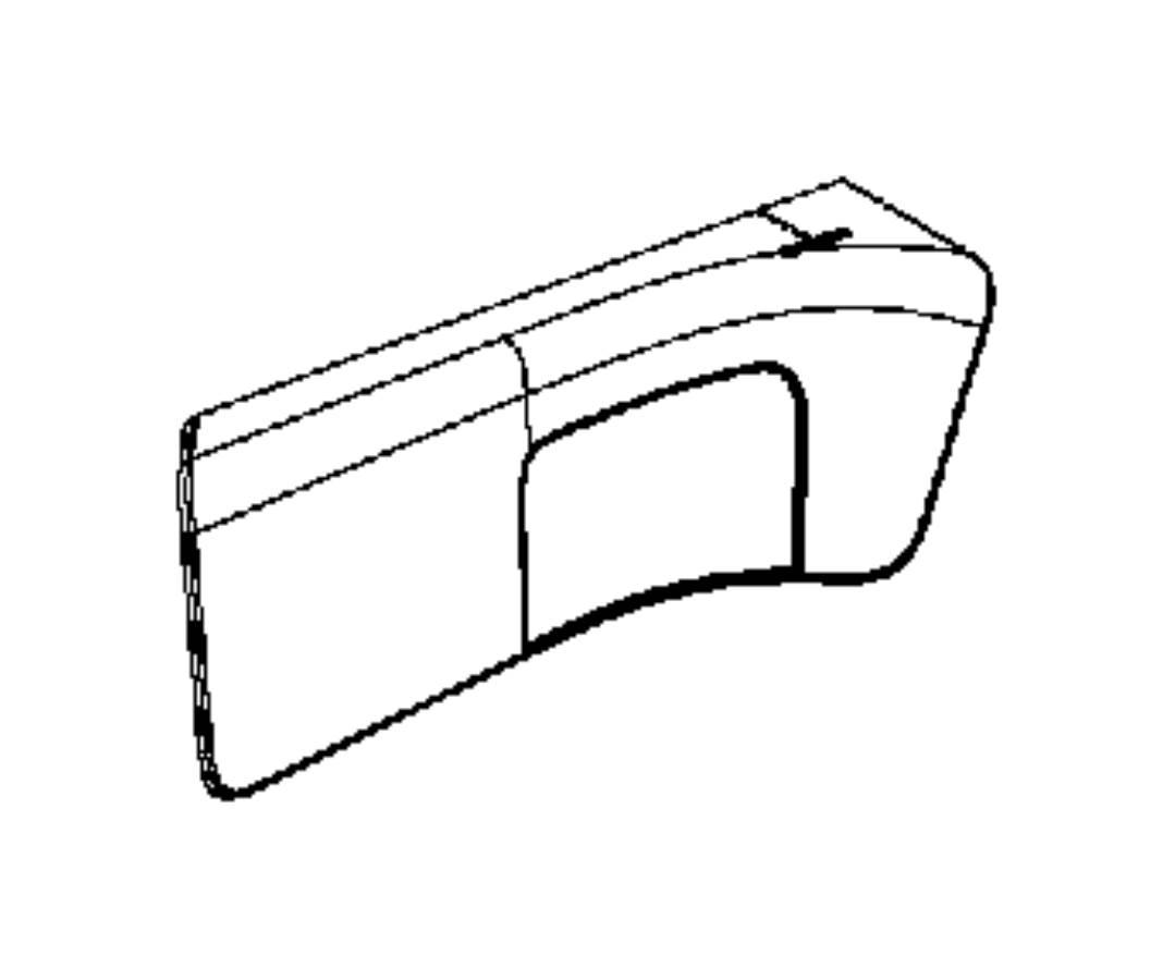 RAM Cargo Van Bolster. Quarter trim panel. Right. [black