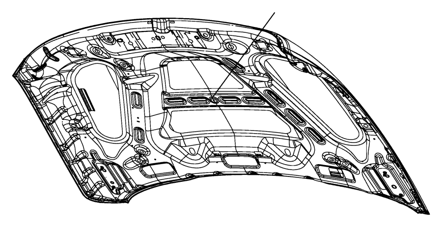 RAM 3500 LONGHORN CREW CAB Hood. [hood power bulge