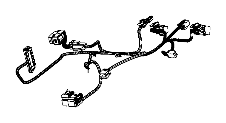 RAM 2500 Wiring. Seat cushion. [seat parts module
