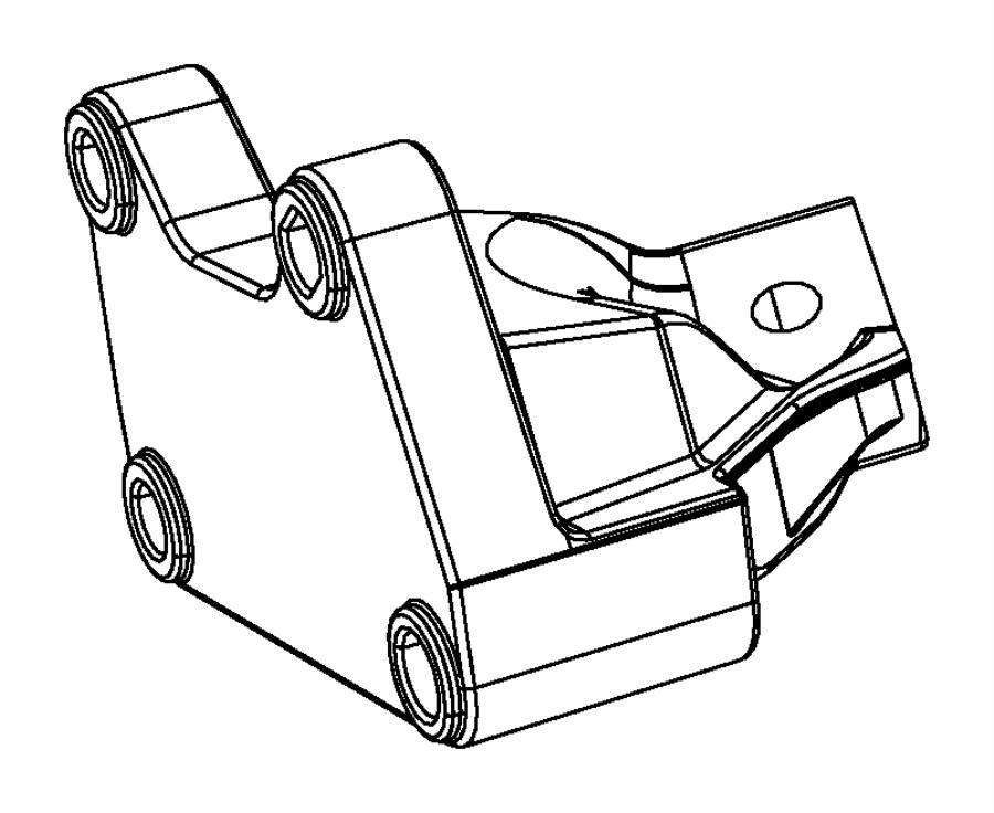 Jeep Grand Cherokee Bracket. Engine mount. Right side