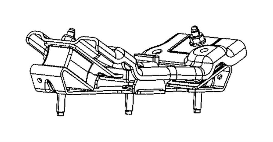 RAM 3500 Isolator. Transmission mount. For body 63