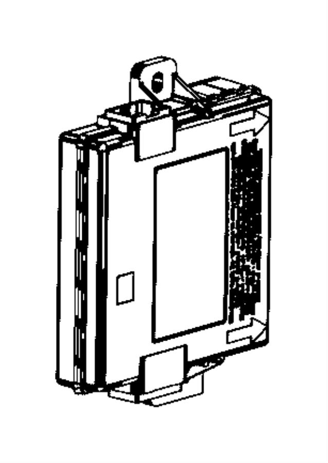 Chrysler 200 Module, receiver. Hub, radio frequency