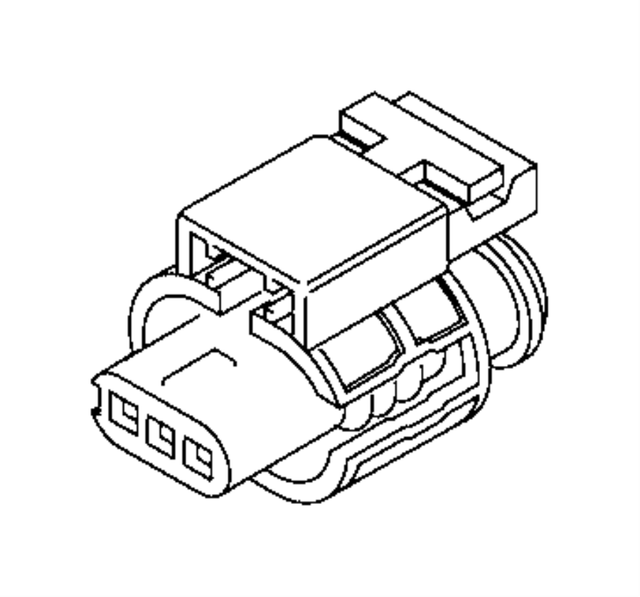 Jeep Cherokee Connector. Electrical. Export, us, canada