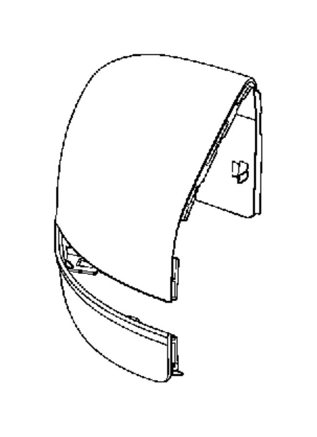 Jeep RENEGADE Cap. Mirror. Right. Trim: [no description