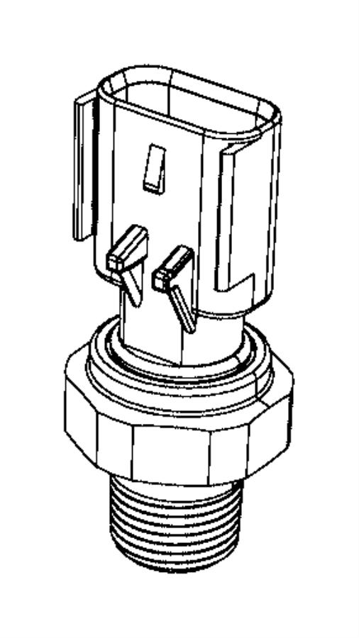 RAM ProMaster City Sensor. Oil pressure. Oil pressure
