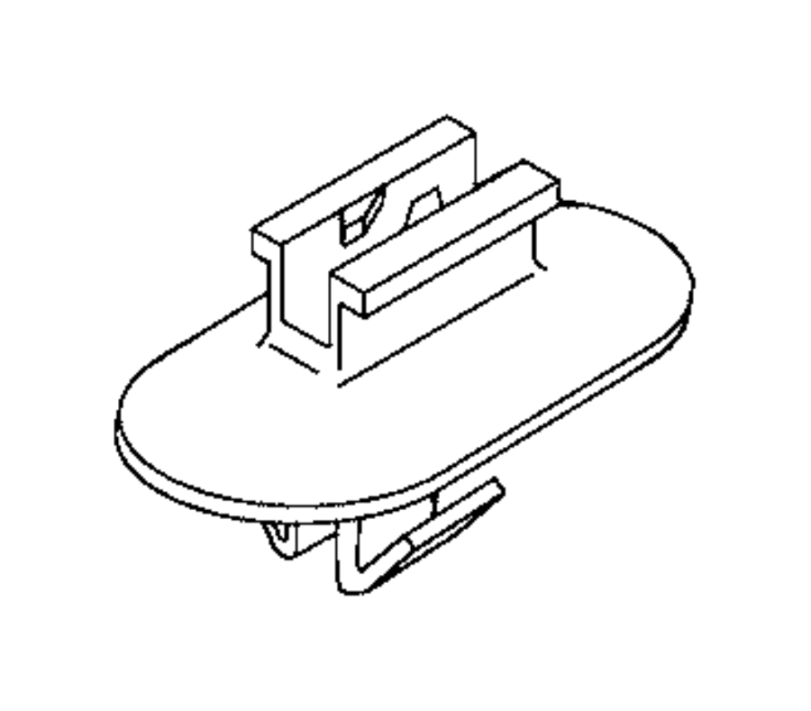 RAM PROMASTER Clip. Brake tube, wiring. Front. Trim: [no