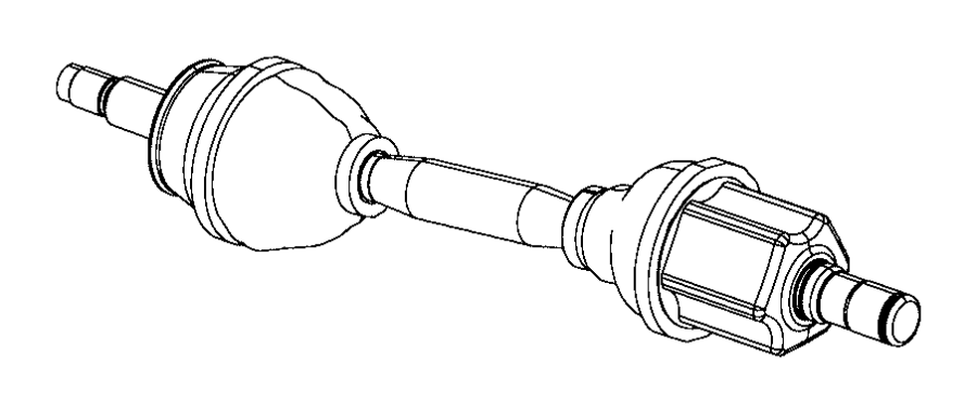 Jeep Compass Shaft. Axle half. Right, right or left. [6