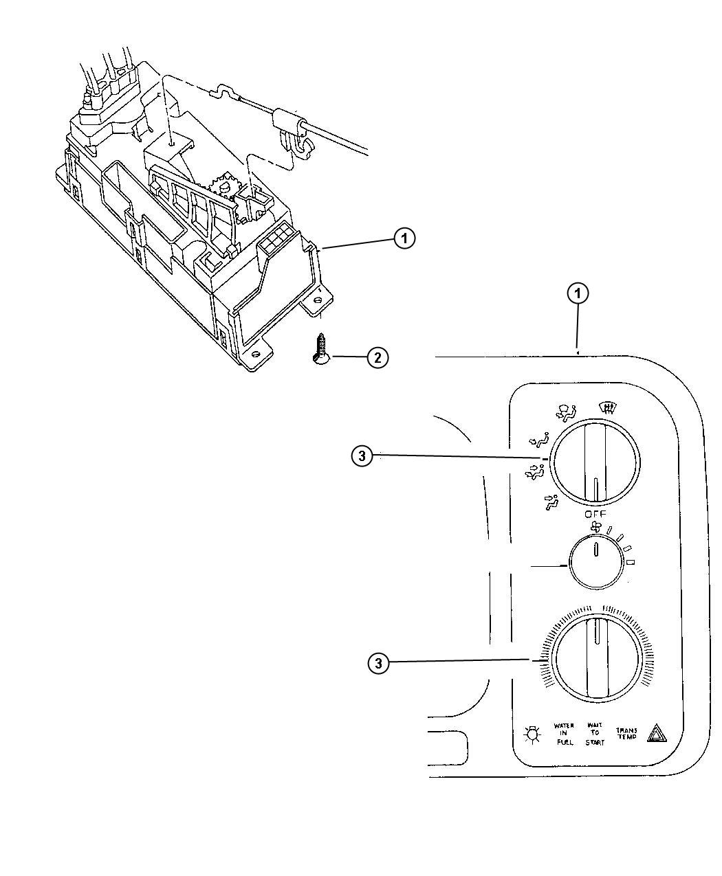 Dodge Ram 1500 Control. Used for: a/c and heater
