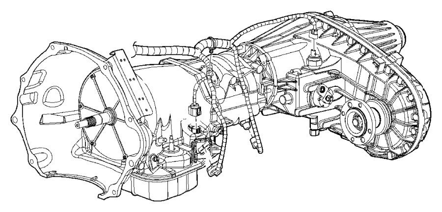 2008 Dodge Wiring. Transmission. [elec shift-on-the-fly