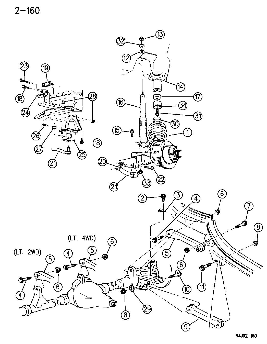 Jeep Cherokee Suspension Diagram