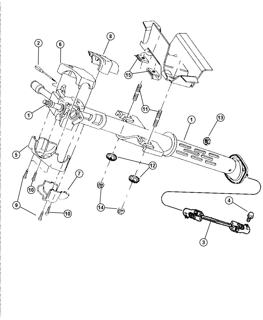 Dodge Ram Switch Ignition Steering Column Tilt