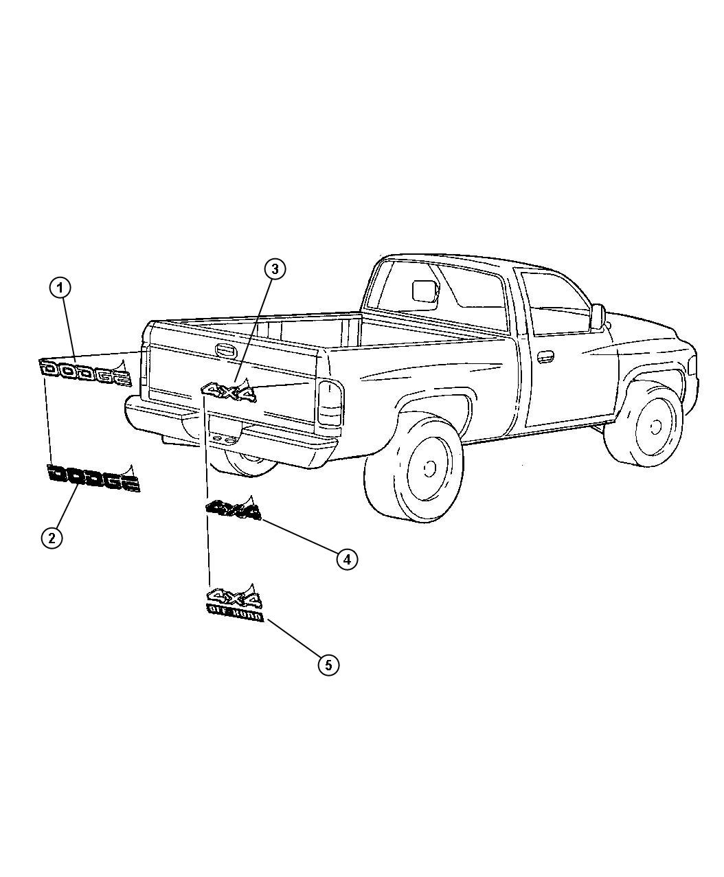 Dodge Ram Decal Dodge Silver Silver Outlined