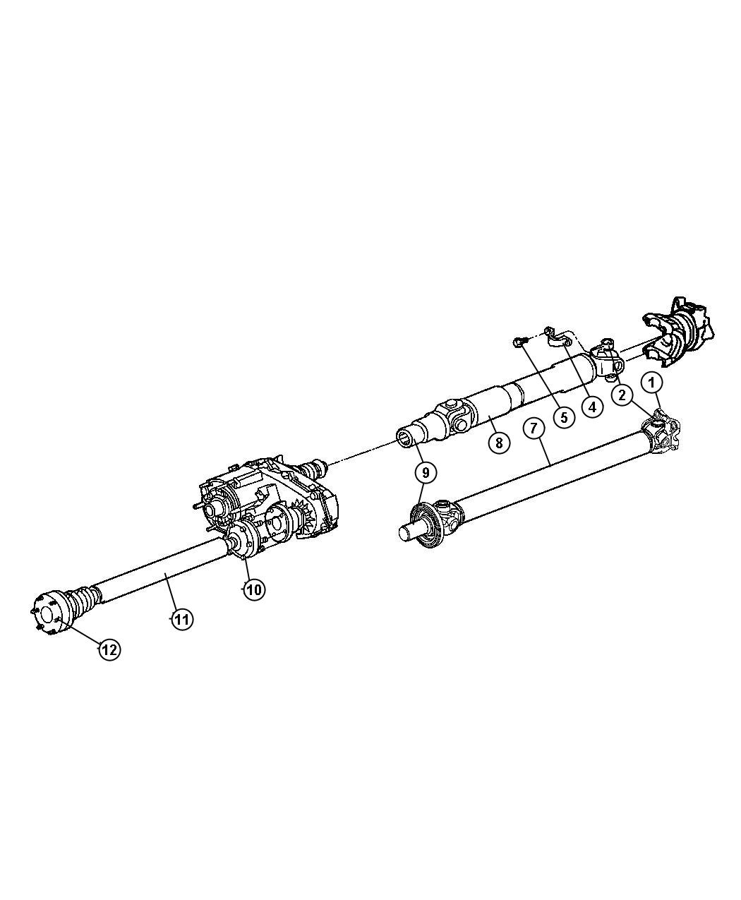Jeep Liberty Used for: BOLT AND WASHER. Drive Shaft