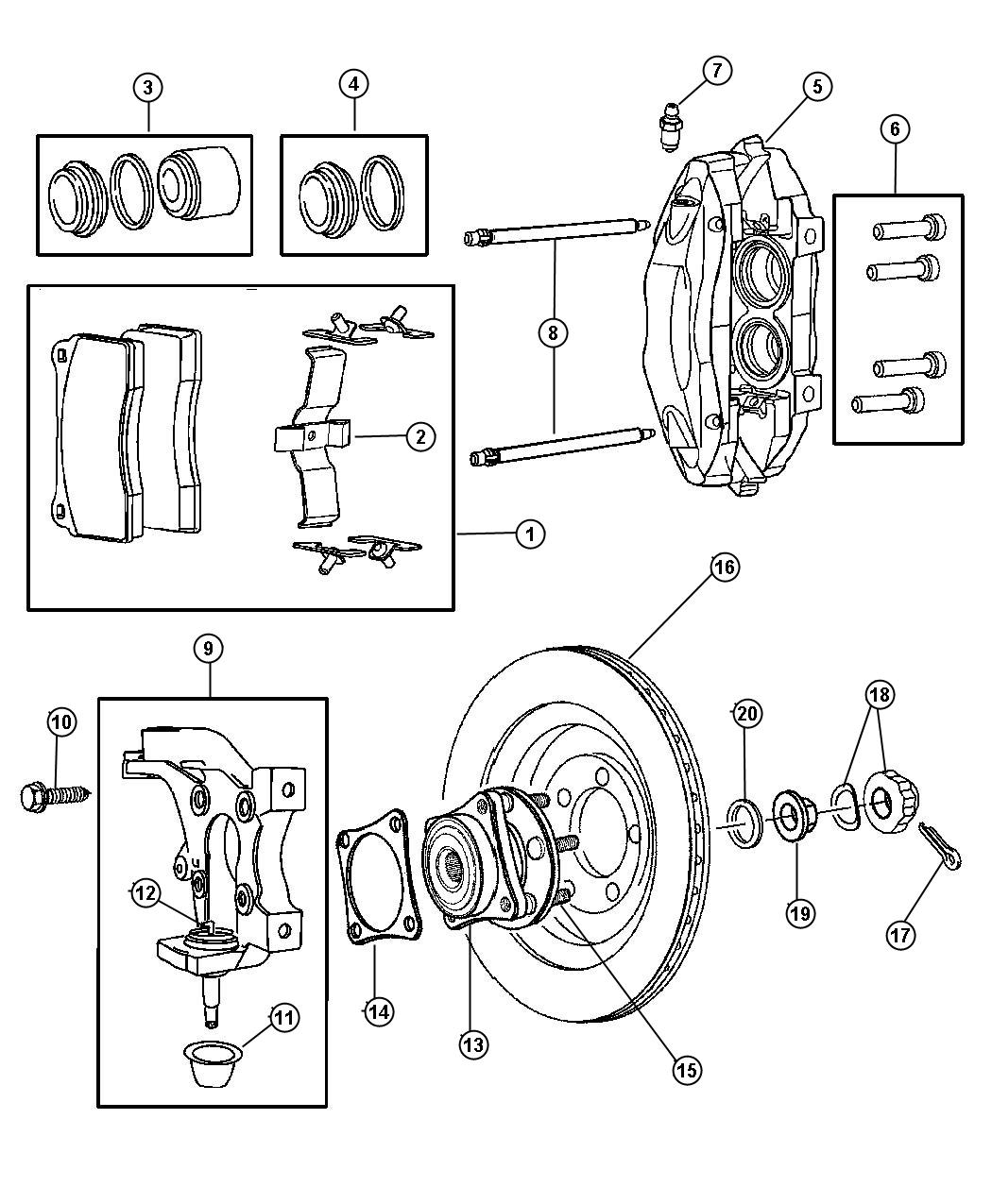 Dodge Ram Used For Hub And Bearing Brake Carbon
