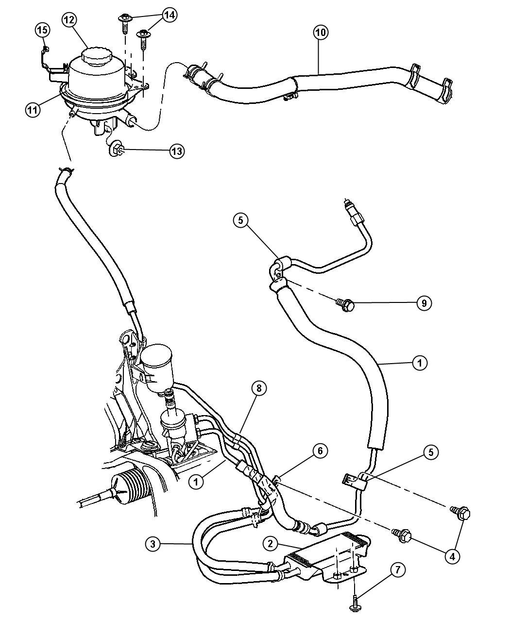 Chrysler Town & Country Line. Power steering return
