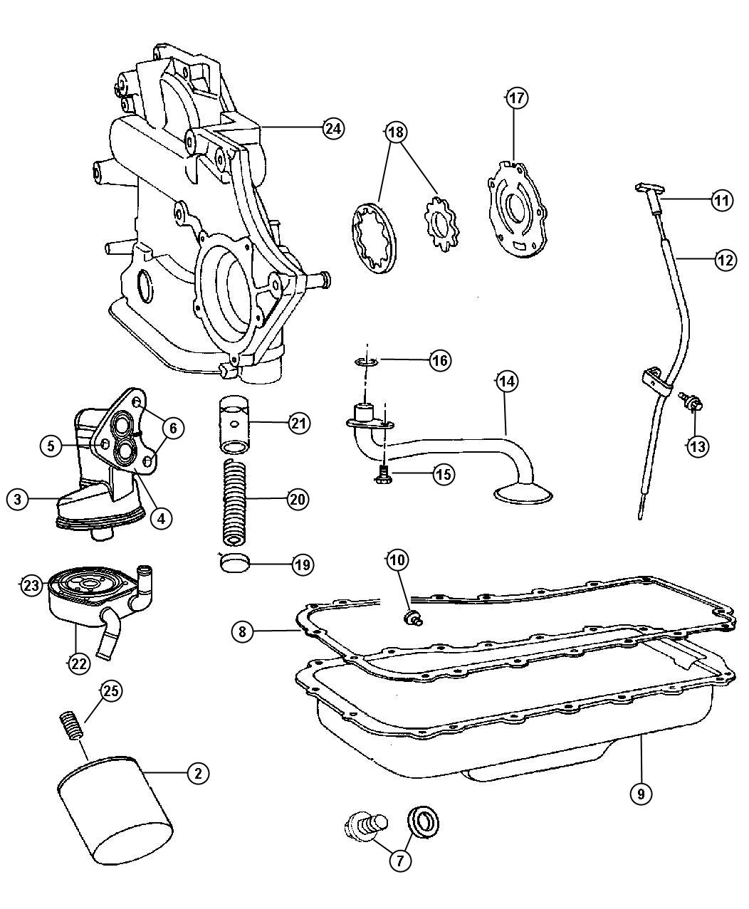 2005 Chrysler Town & Country Cover package. Engine timing