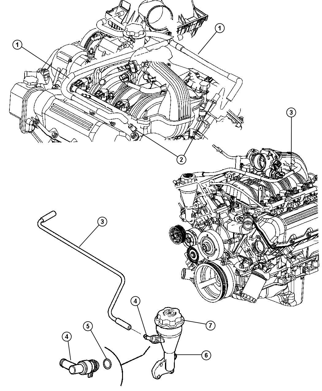 Jeep Grand Cherokee Tube. Crankcase vent to air cleaner