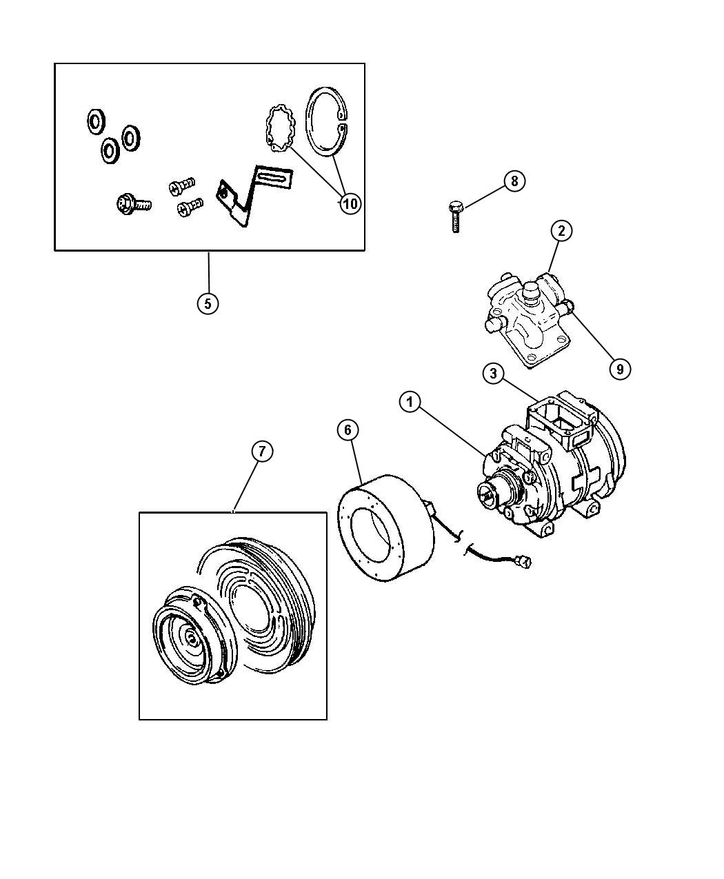 Chrysler Town Amp Country Used For Bolt And Washer