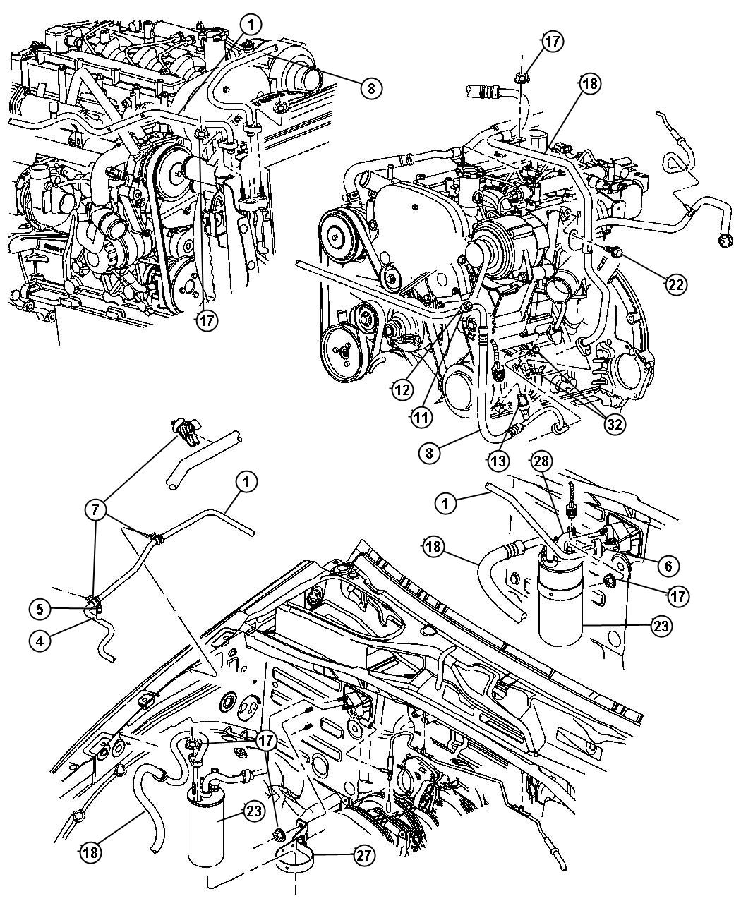 Jeep Liberty Switch A C Cycling Low Pressure Air Conditioning Plumbing