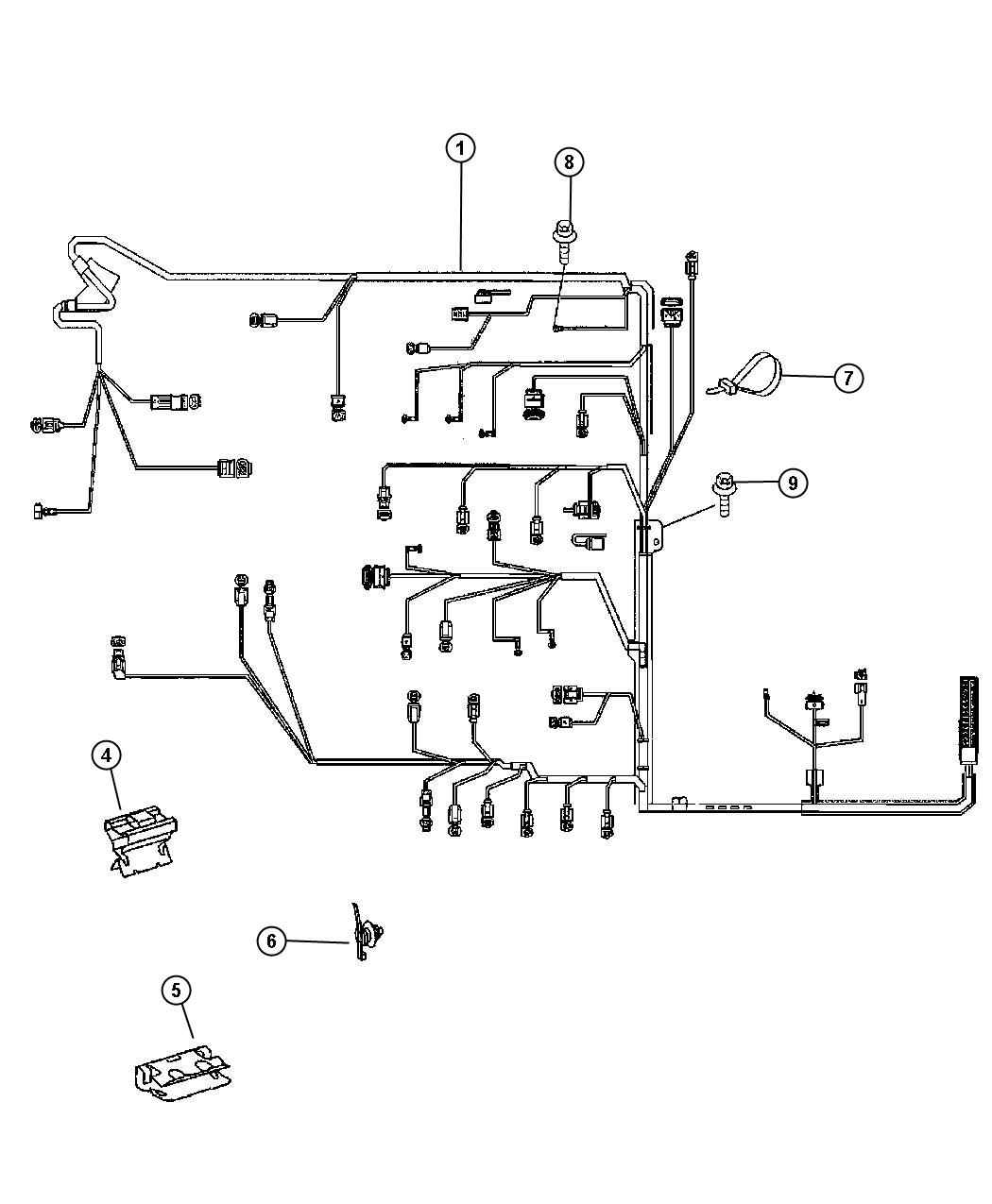 dodge wiring harness repair kits