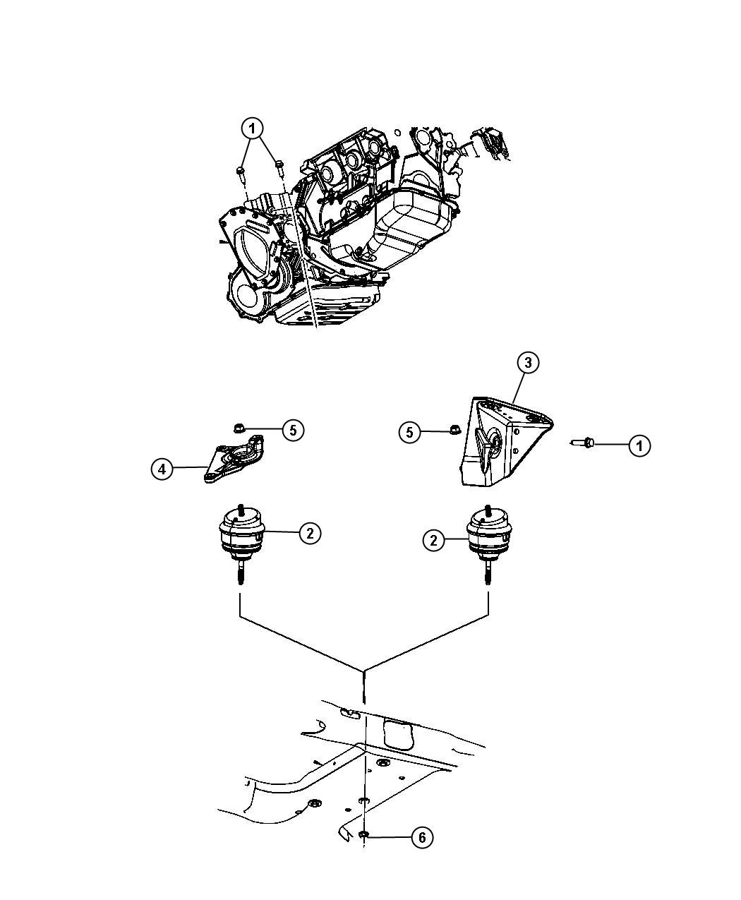 2007 chrysler pacifica engine diagram epiphone es 335 pro wiring isolator mount rear load
